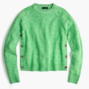 J. Crew | Lambswool Side Button Sweater